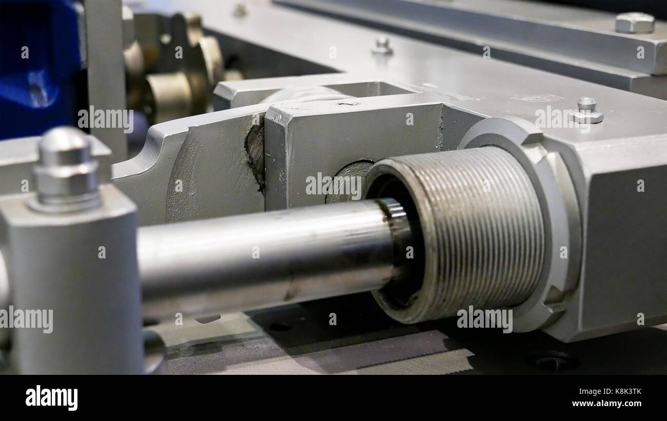 Crank drive gear of industrial plant machine - Stock Image