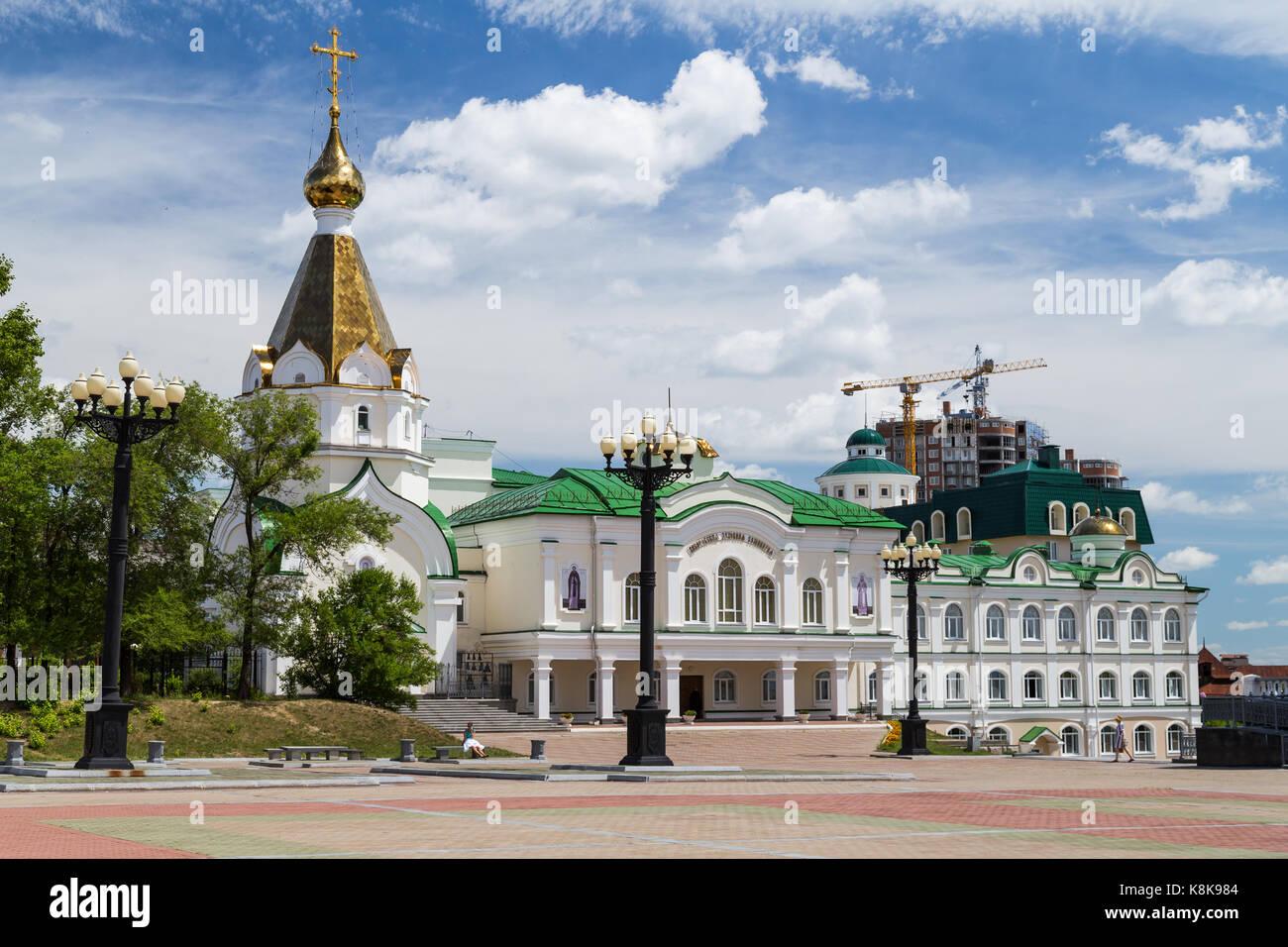 Russian Orhodox Church in Khabarovsk, Russia - Stock Image