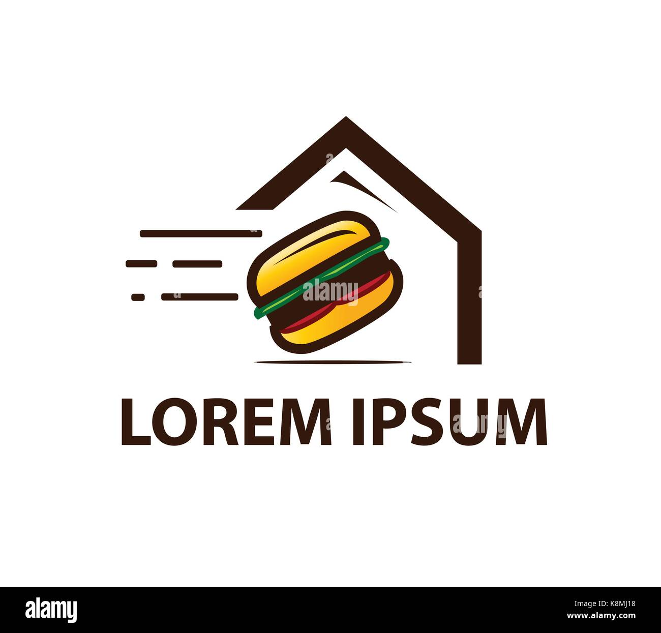 burger to your home logo, house of burger logo, icon design ...