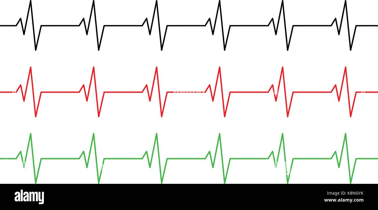 heart rhythm ecg line vector symbol icon design beautiful illustration K8NGYK
