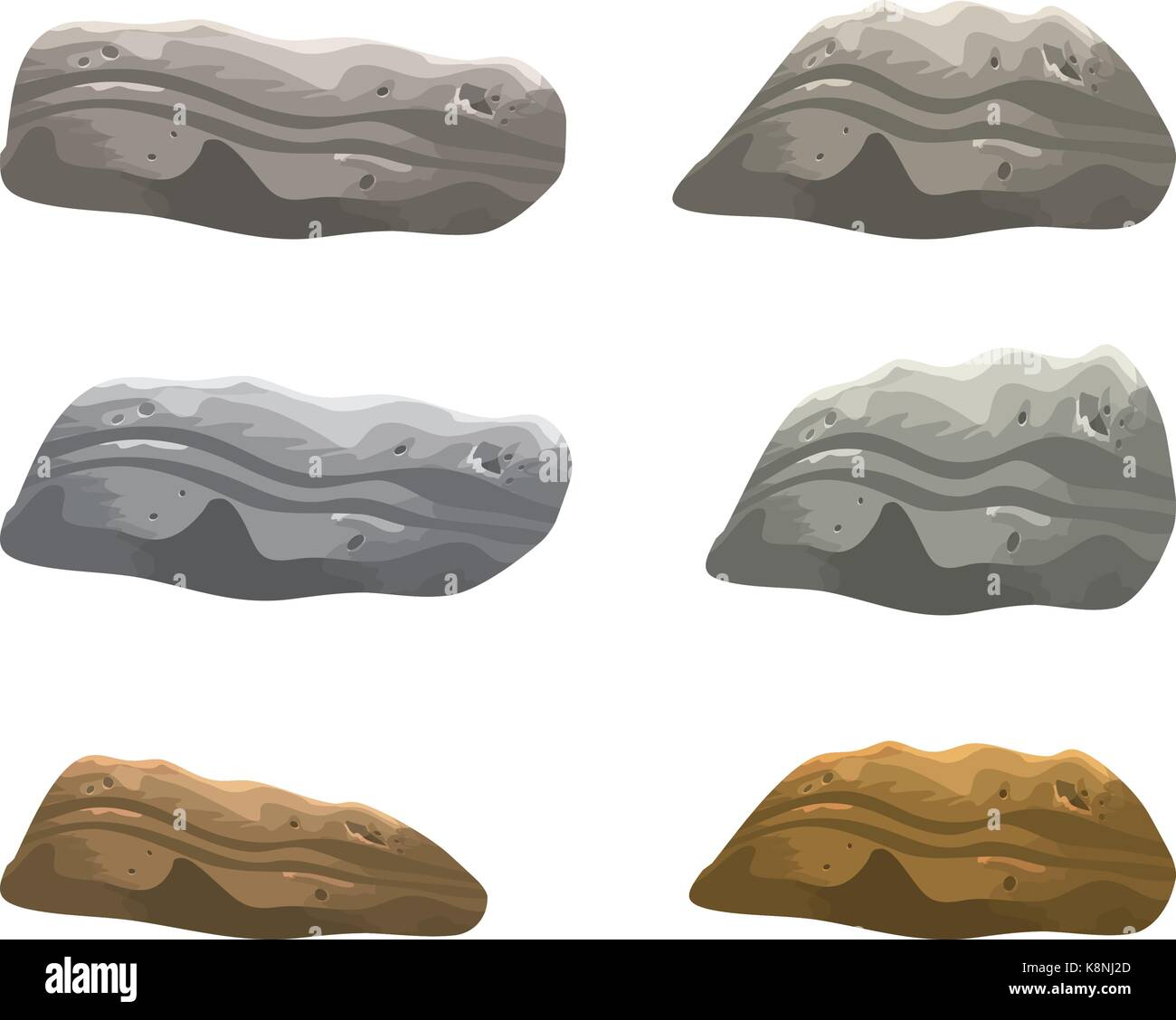 rock, stone vector symbol , icon  design. illustration isolated on white background. - Stock Vector