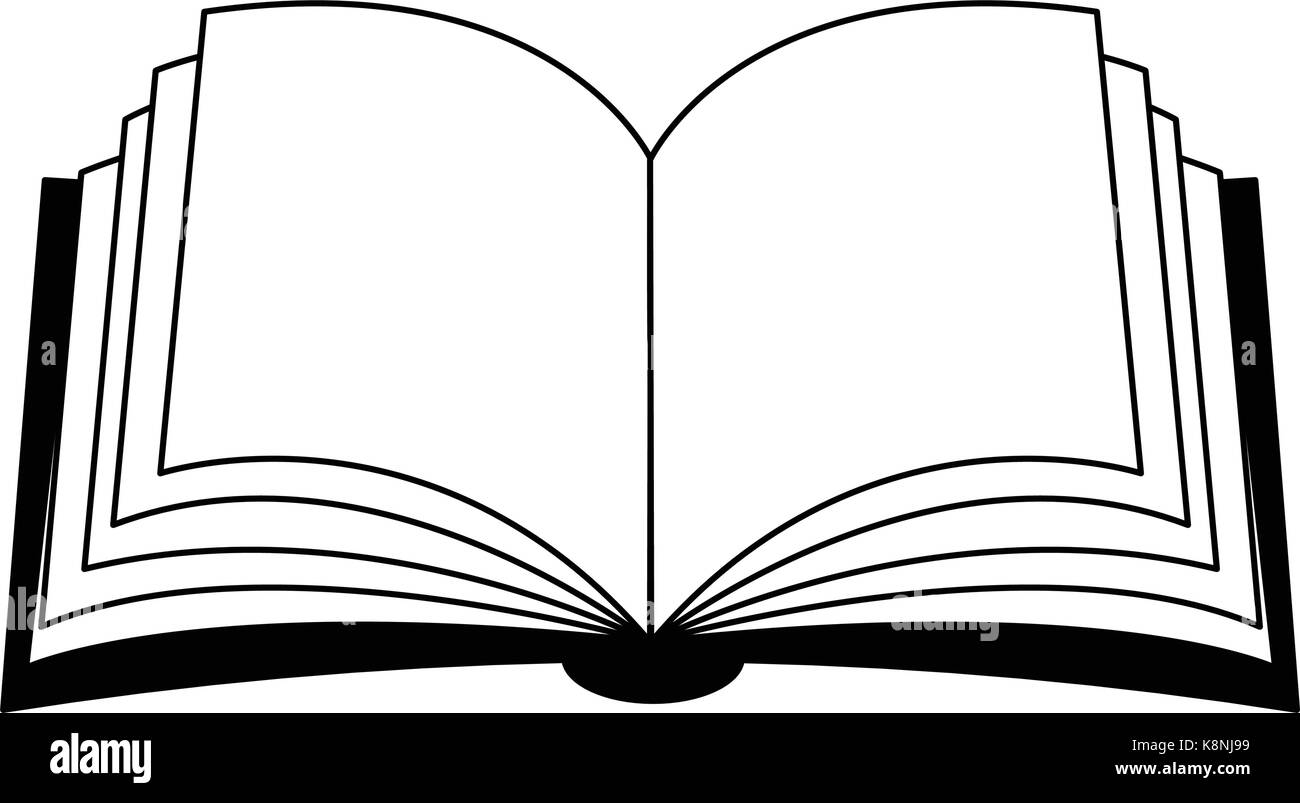 open book vector clipart silhouette, symbol, icon design stock
