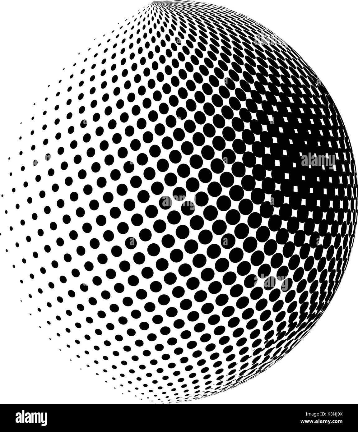 Dot Sphere Logo Template Globe Vector Icon