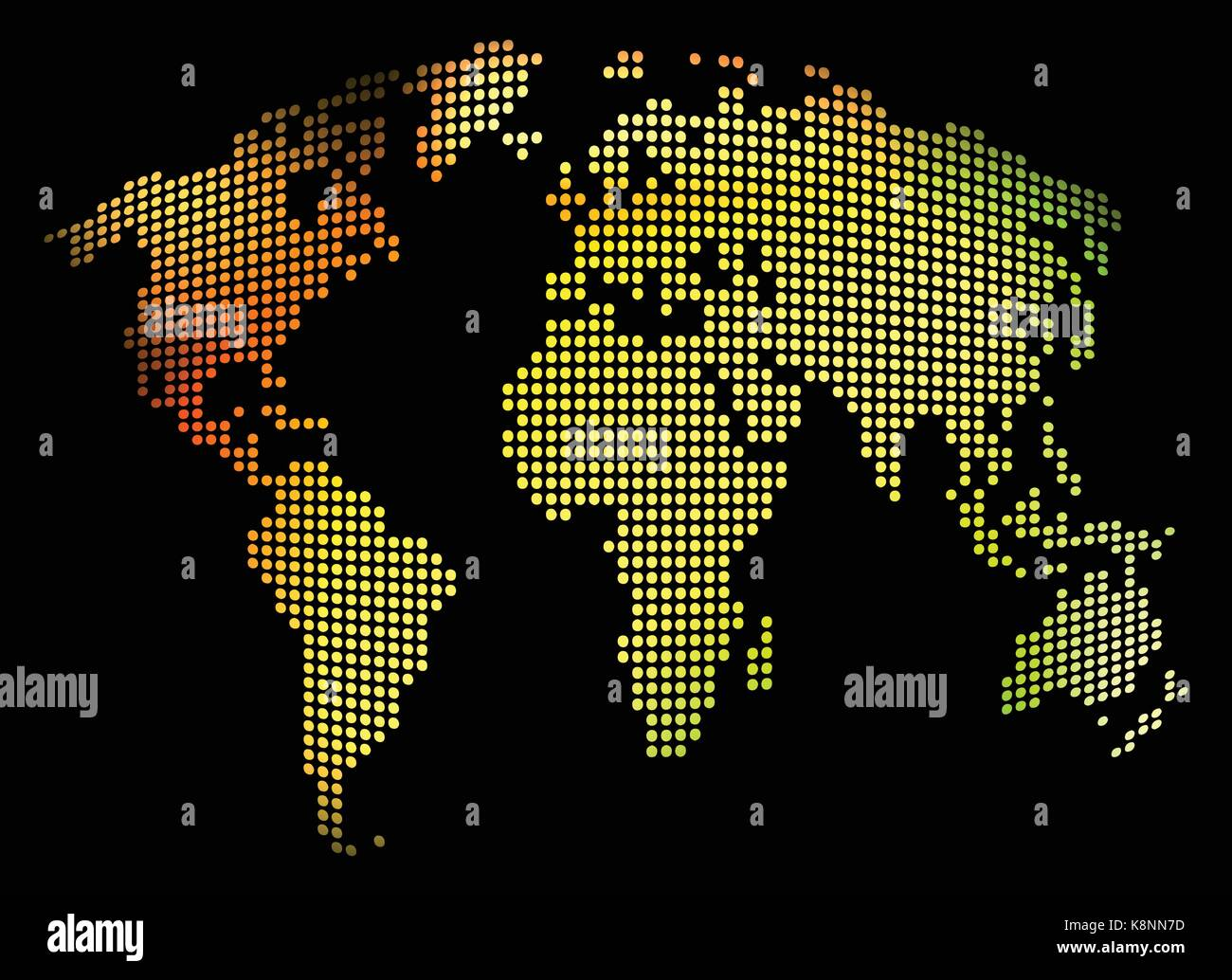 World map - abstract dotted vector background. Colorful illustration ...