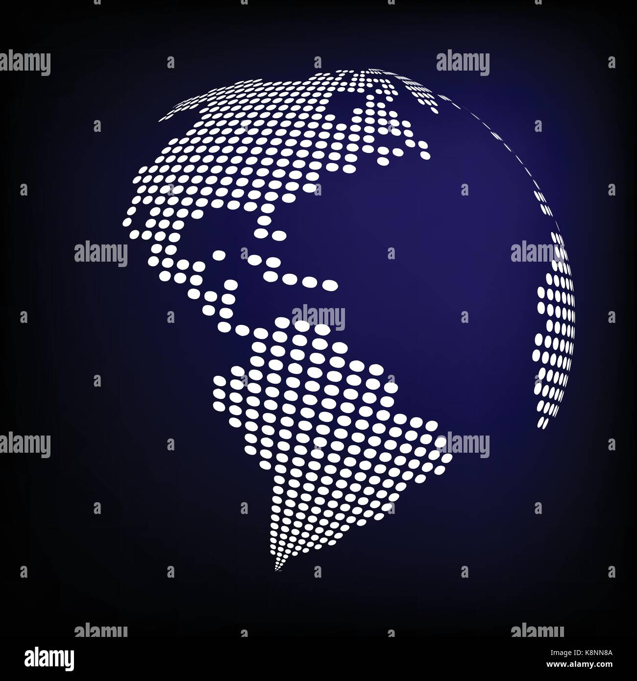 Globe earth world map abstract dotted vector background blue globe earth world map abstract dotted vector background blue wallpaper illustration gumiabroncs Gallery