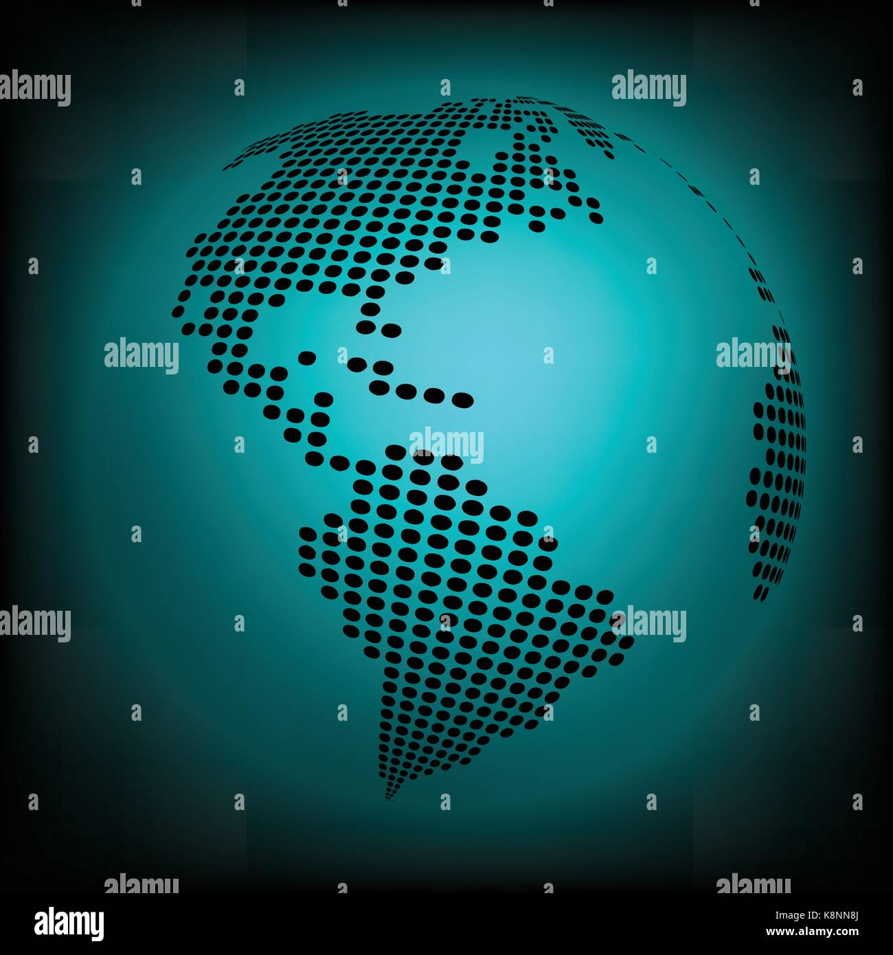 Globe earth world map abstract dotted vector background blue globe earth world map abstract dotted vector background blue wallpaper illustration gumiabroncs Choice Image