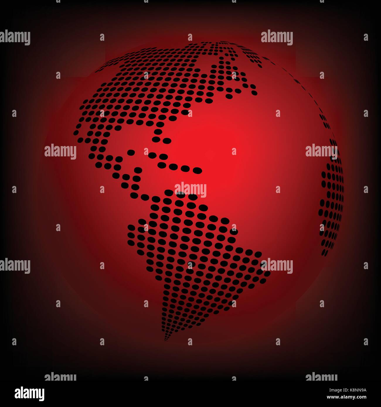 Globe earth world map abstract dotted vector background red stock globe earth world map abstract dotted vector background red wallpaper illustration gumiabroncs Gallery