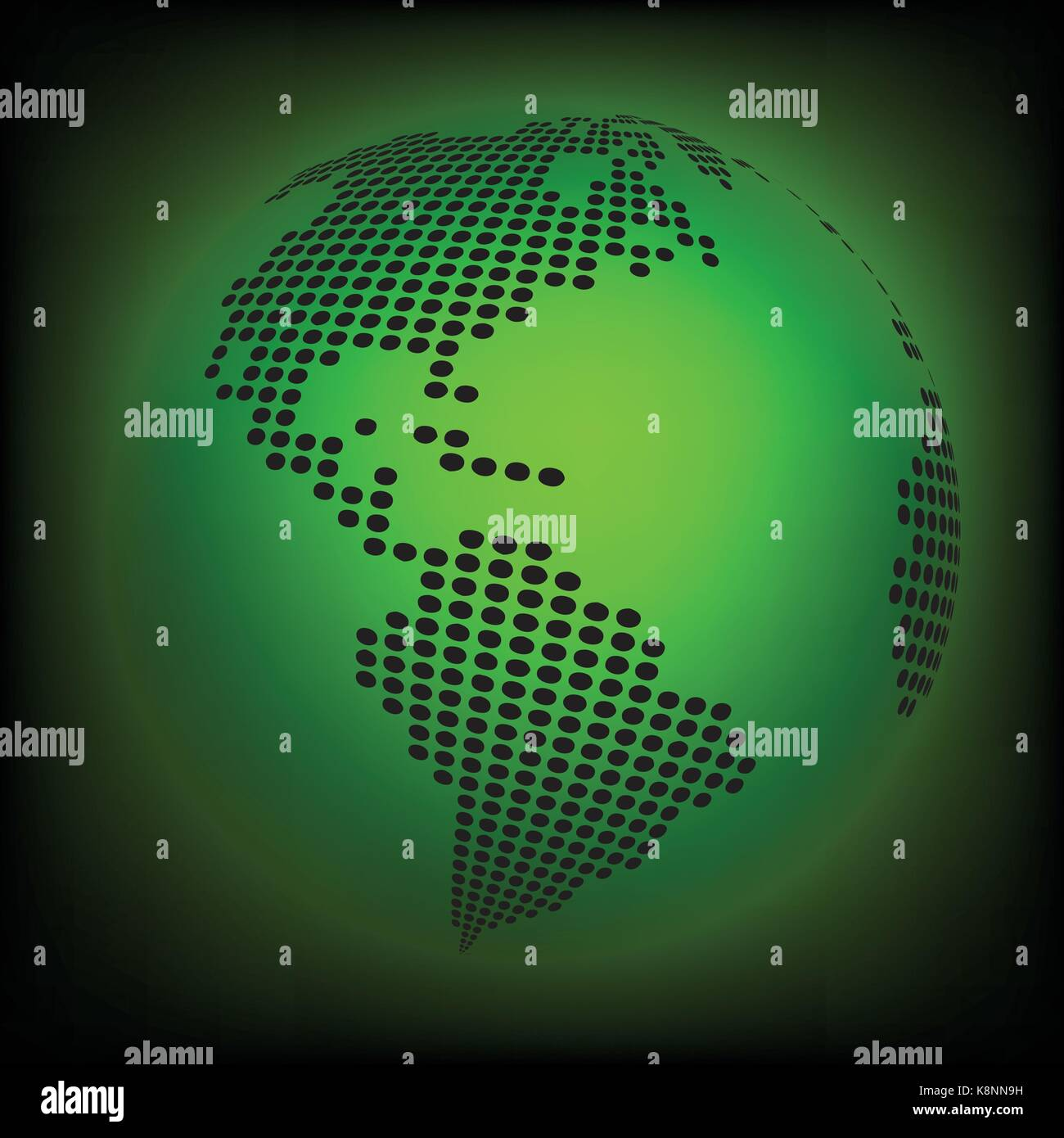 Globe earth world map abstract dotted vector background green globe earth world map abstract dotted vector background green wallpaper illustration gumiabroncs Gallery