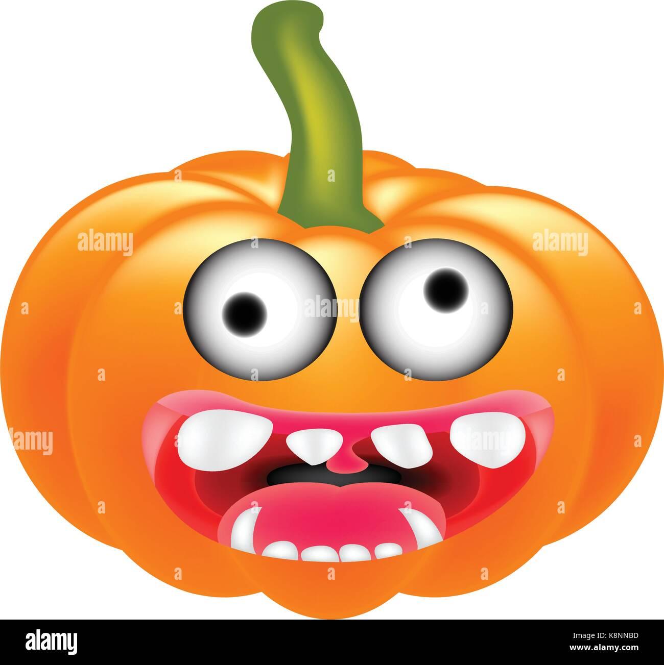 Halloween Pumpkin Cartoon Images.Crazy Halloween Pumpkin Cartoon Character With Eyes And