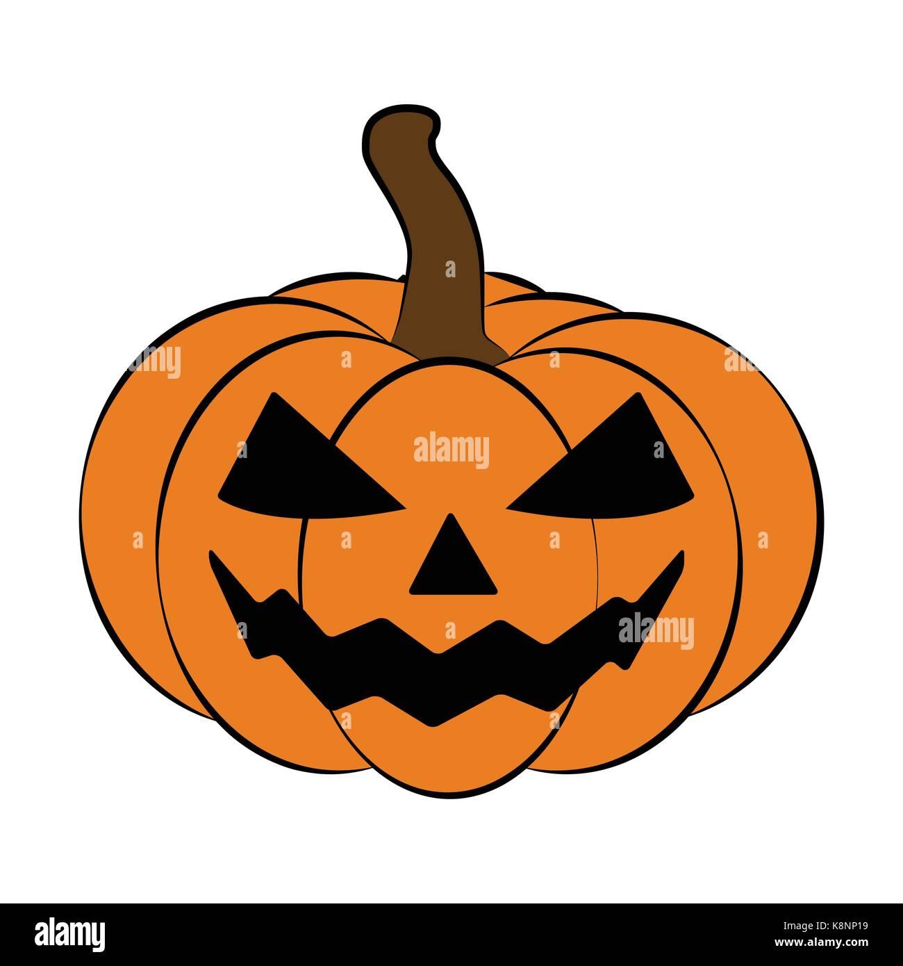 Halloween Pumpkin Vector Art.Halloween Pumpkin Vector Illustration Jack O Lantern