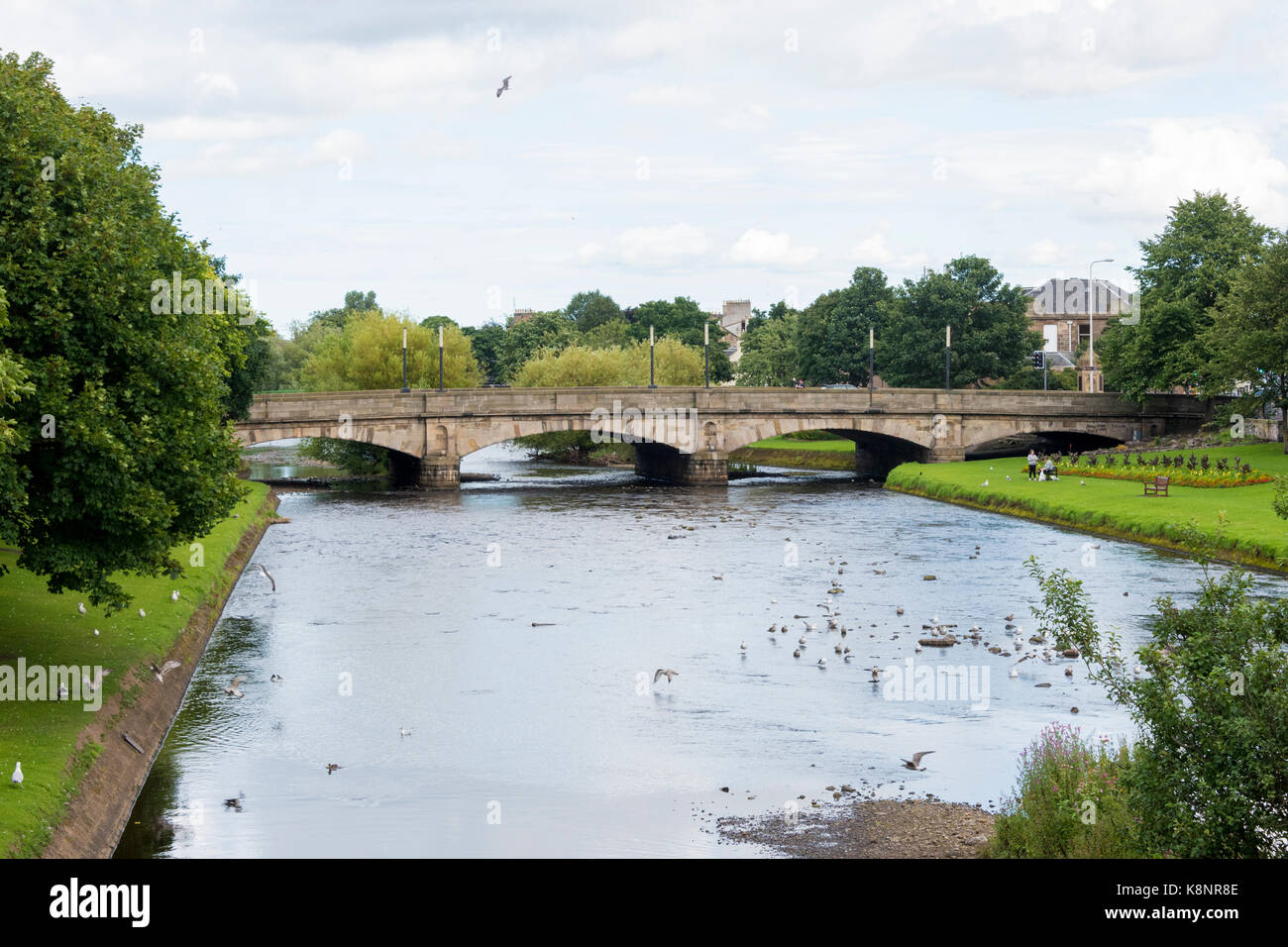 Bridge over the River Esk Musselburgh - Stock Image