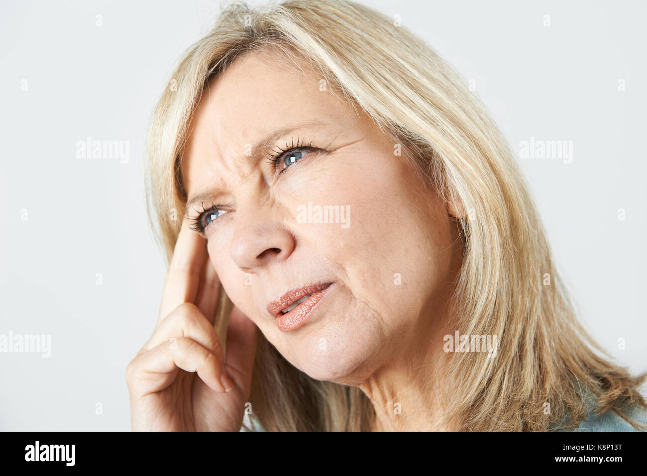 Mature Woman Suffering From Memory Loss - Stock Image