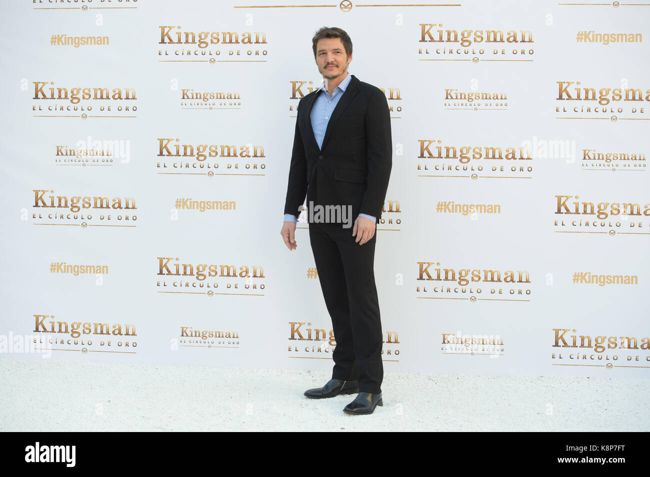 Madrid, Spain. 20th Sep, 2017. Actor Pedro Pascal during photocall of the movie 'Kingsman: The Golden Circle' - Stock Image