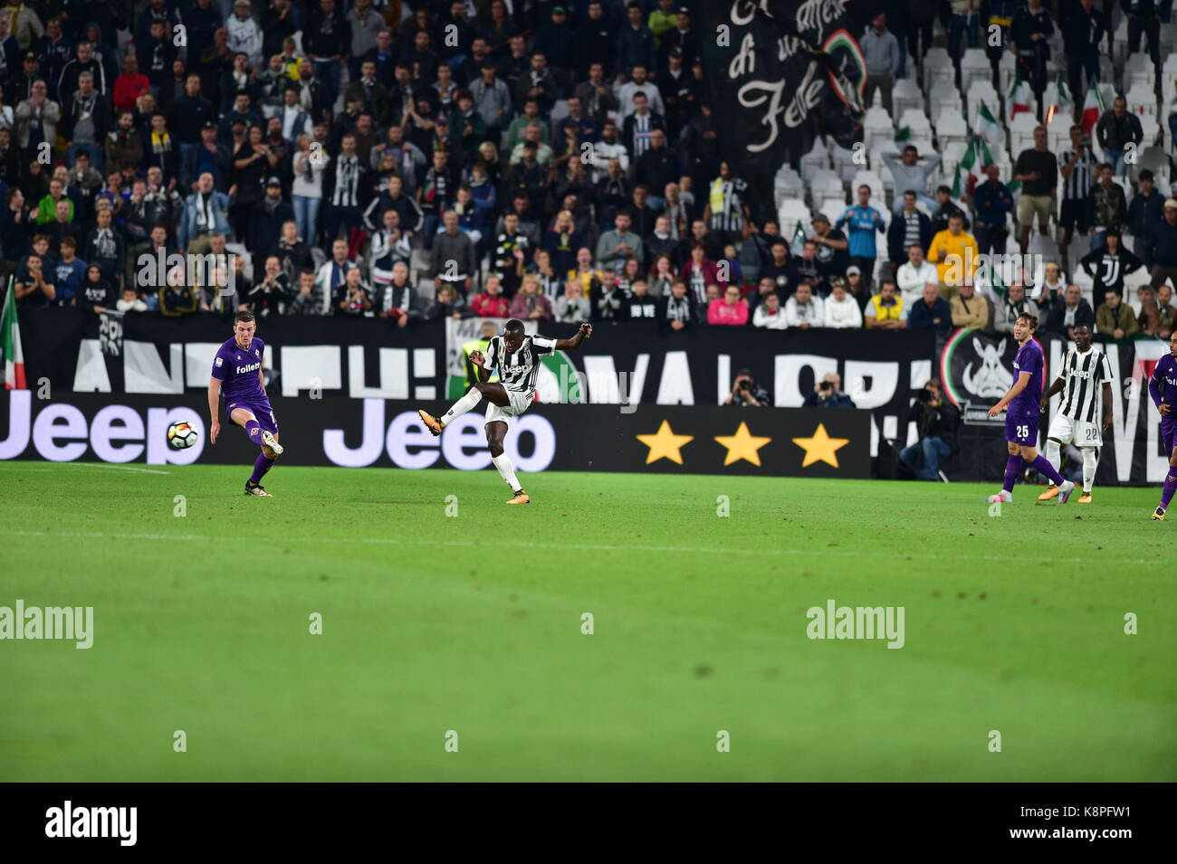 Turin, Italy. 20th Sep, 2017. the Serie A football match between Juventus FC vs ACF Fiorentina at Allianz Stadium - Stock Image