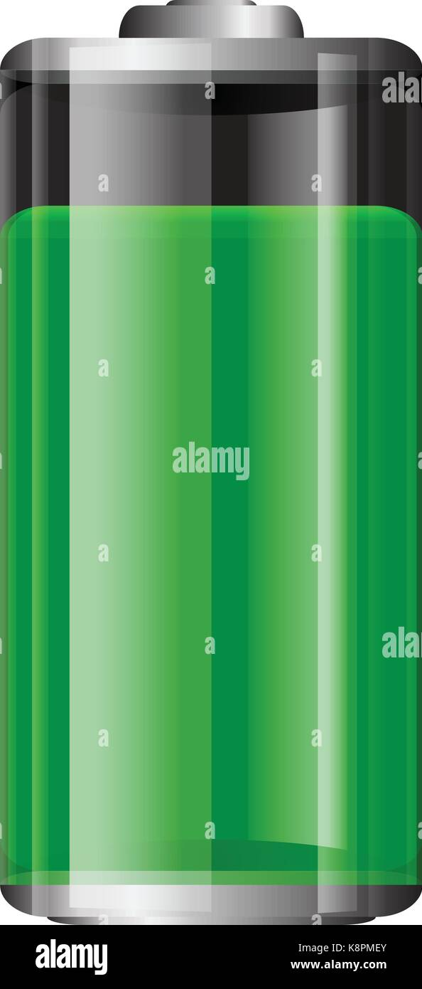vector transparent battery illustration full green battery isolated stock vector image art alamy alamy