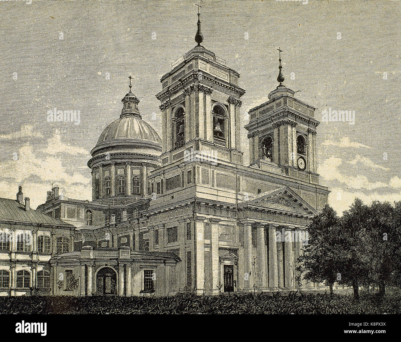 Russia. Saint Petersburg. Saint Isaac's Cathedral. Designed by the French architect Auguste Montferrand and - Stock Image