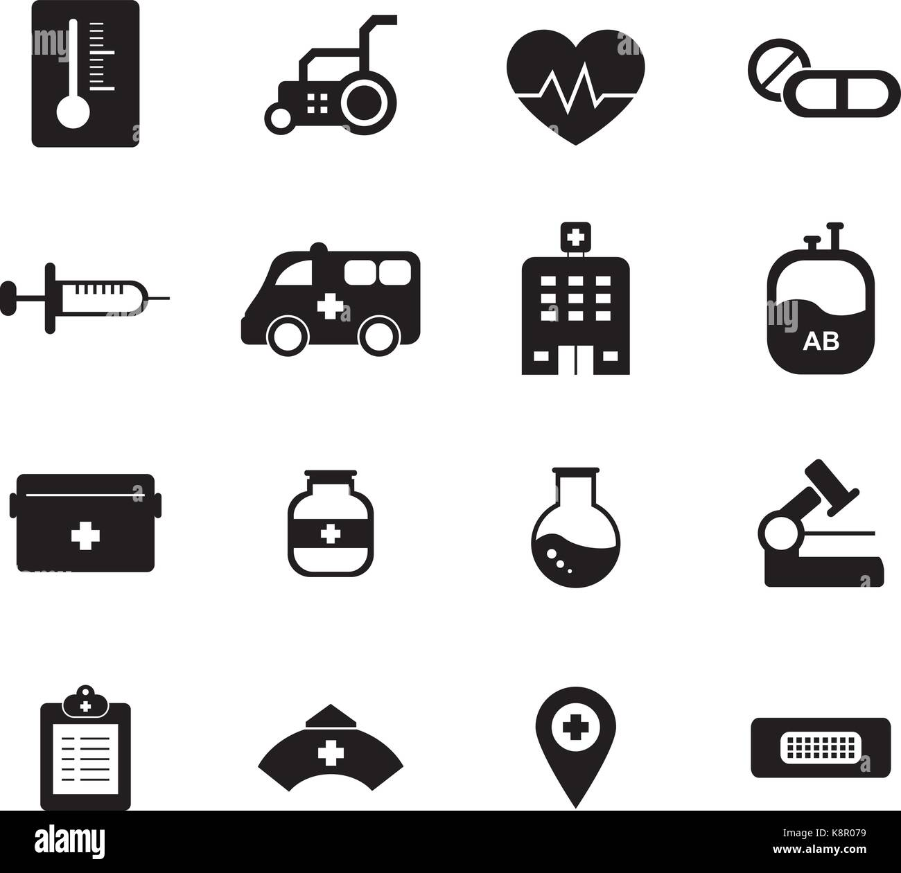 Hospital icon - Stock Vector