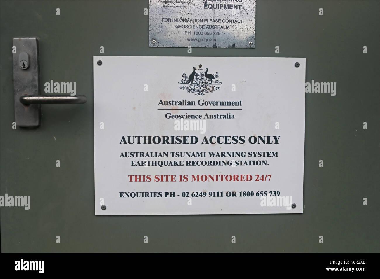 Tsuanami monitoring station  Christmas Island, Australia     July - Stock Image