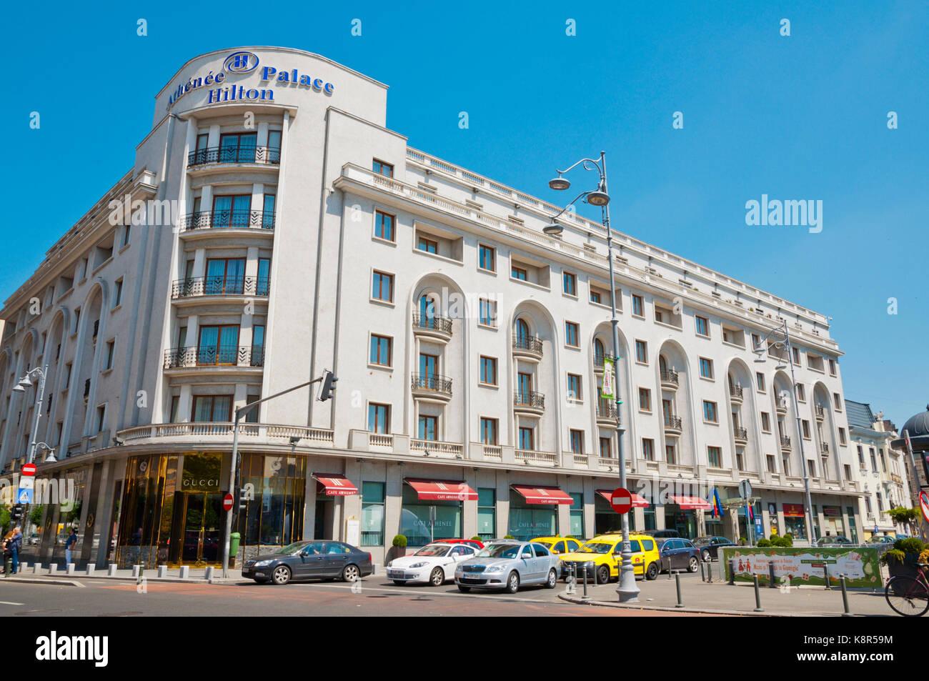 Athenee Palace Hilton, Calea Victoriei, Bucharest, Romania - Stock Image