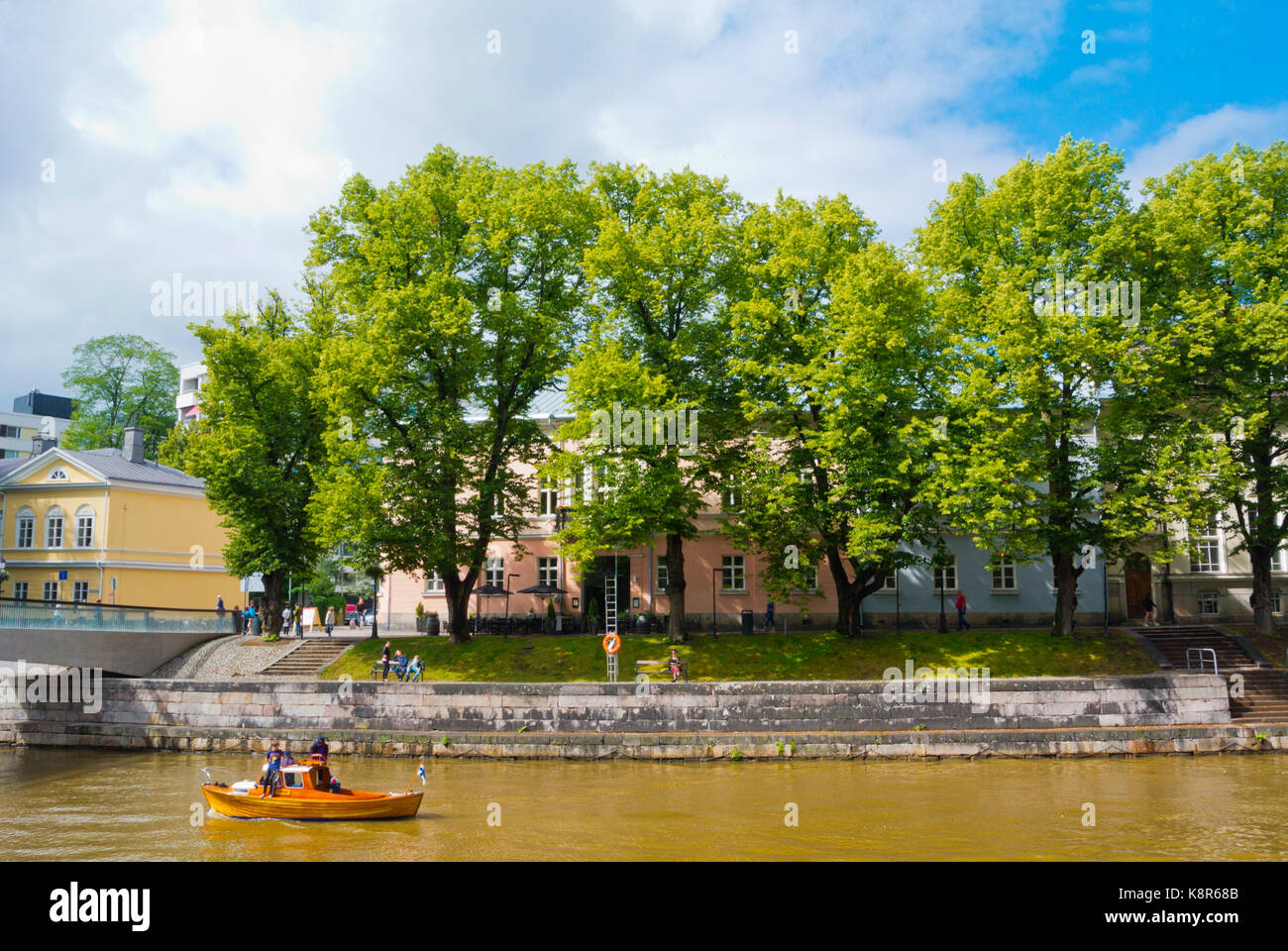 Aurajoki, River Aura, Turku, western Finland - Stock Image