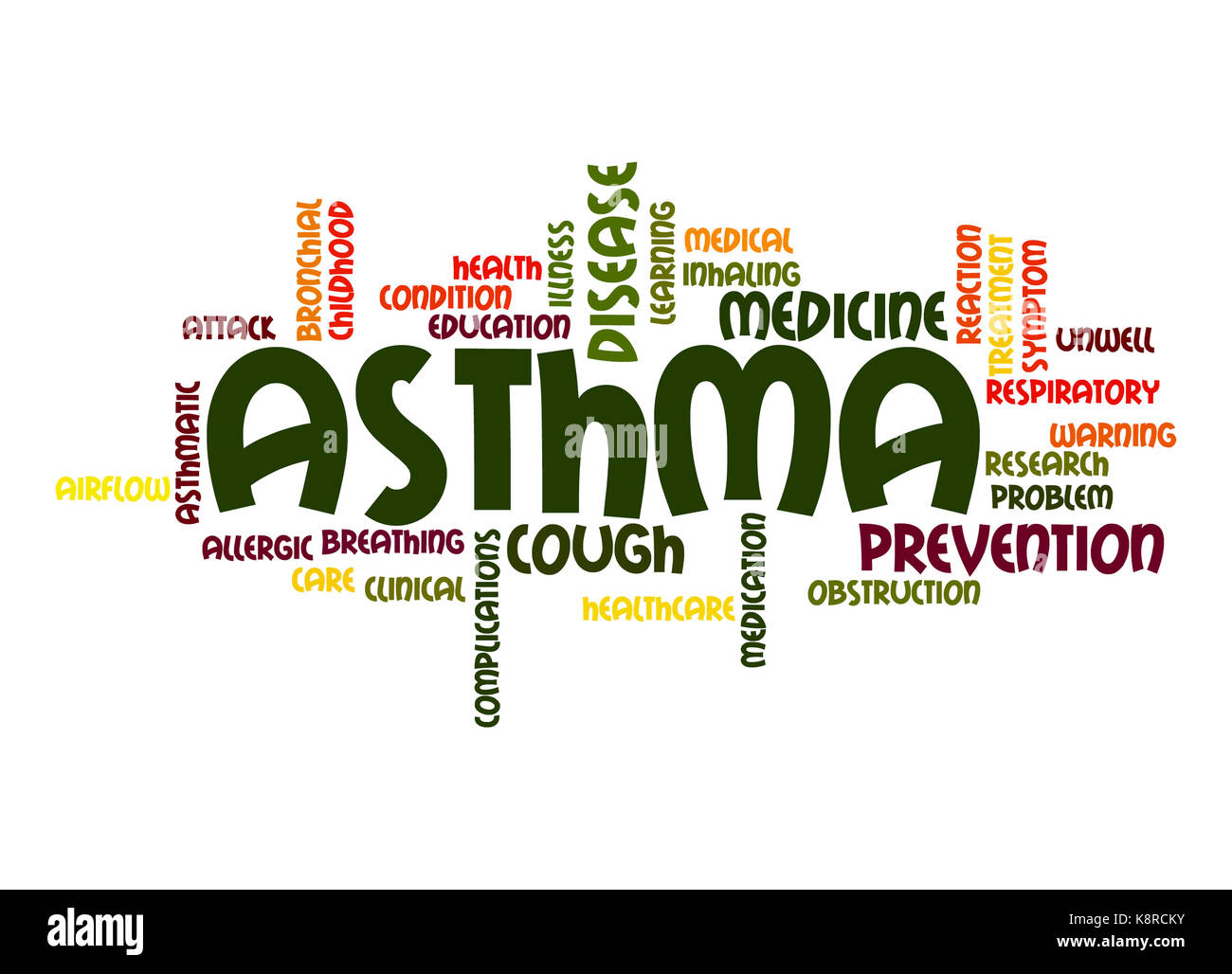 Asthma word cloud - Stock Image