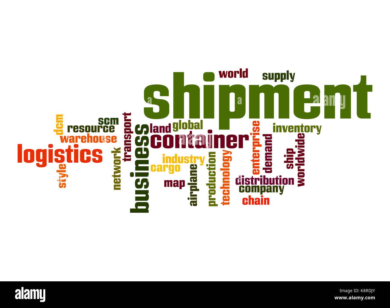 Shipment word cloud Stock Photo