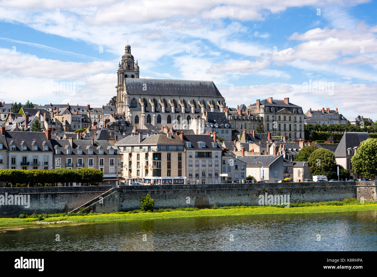 Blois, a city and the capital of Loir-et-Cher department in central France, France - Stock Image