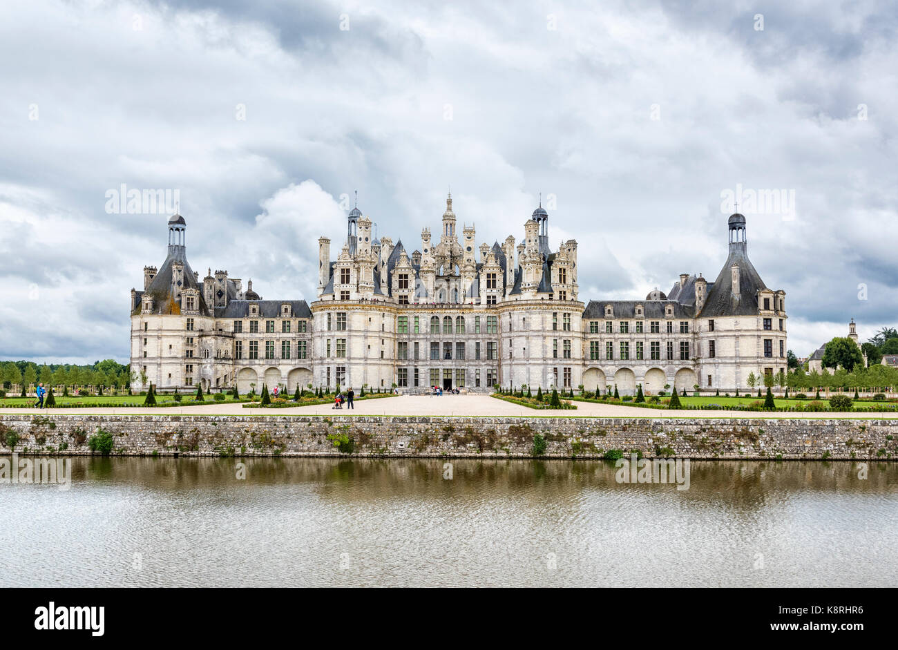 Château de Chambord, the largest chateau in the Loire Valley, Loir-et-Cher, France - Stock Image