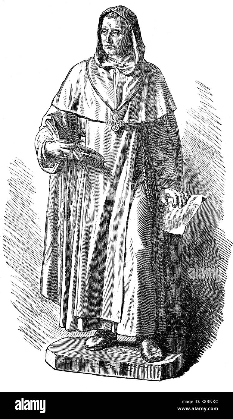 Albertus Magnus,  1200 -1280, also known as Saint Albert the Great and Albert of Cologne, was a German Catholic - Stock Image