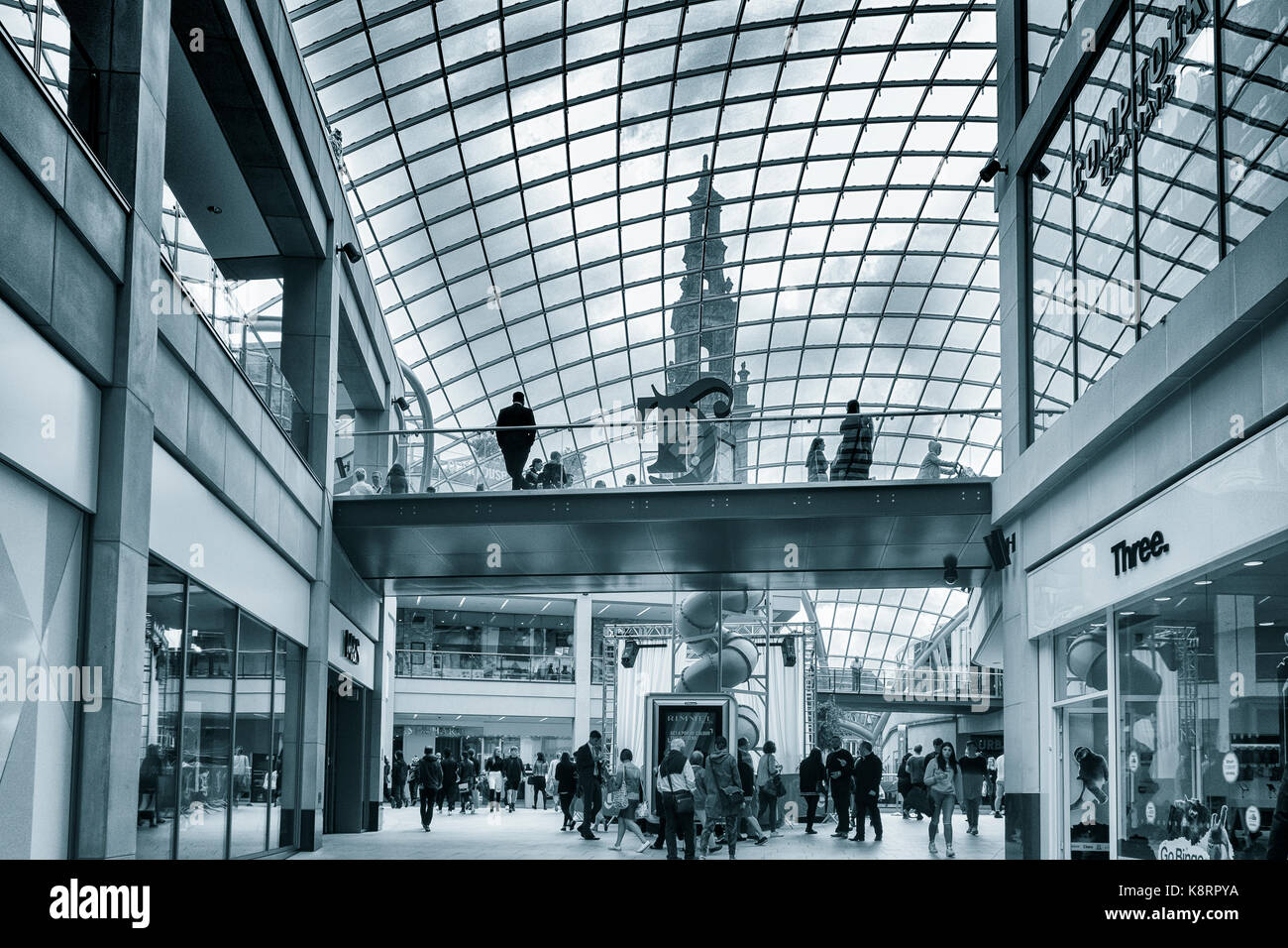 Trinity Leeds shopping centre. Leeds, Yorkshire, UK - Stock Image