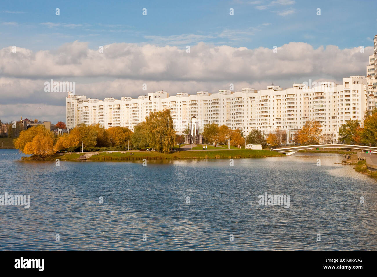 View of The Island of Tears, a memorial for soviet soldiers from Belarus who died on Afganistan war,  Minsk, Belarus - Stock Image
