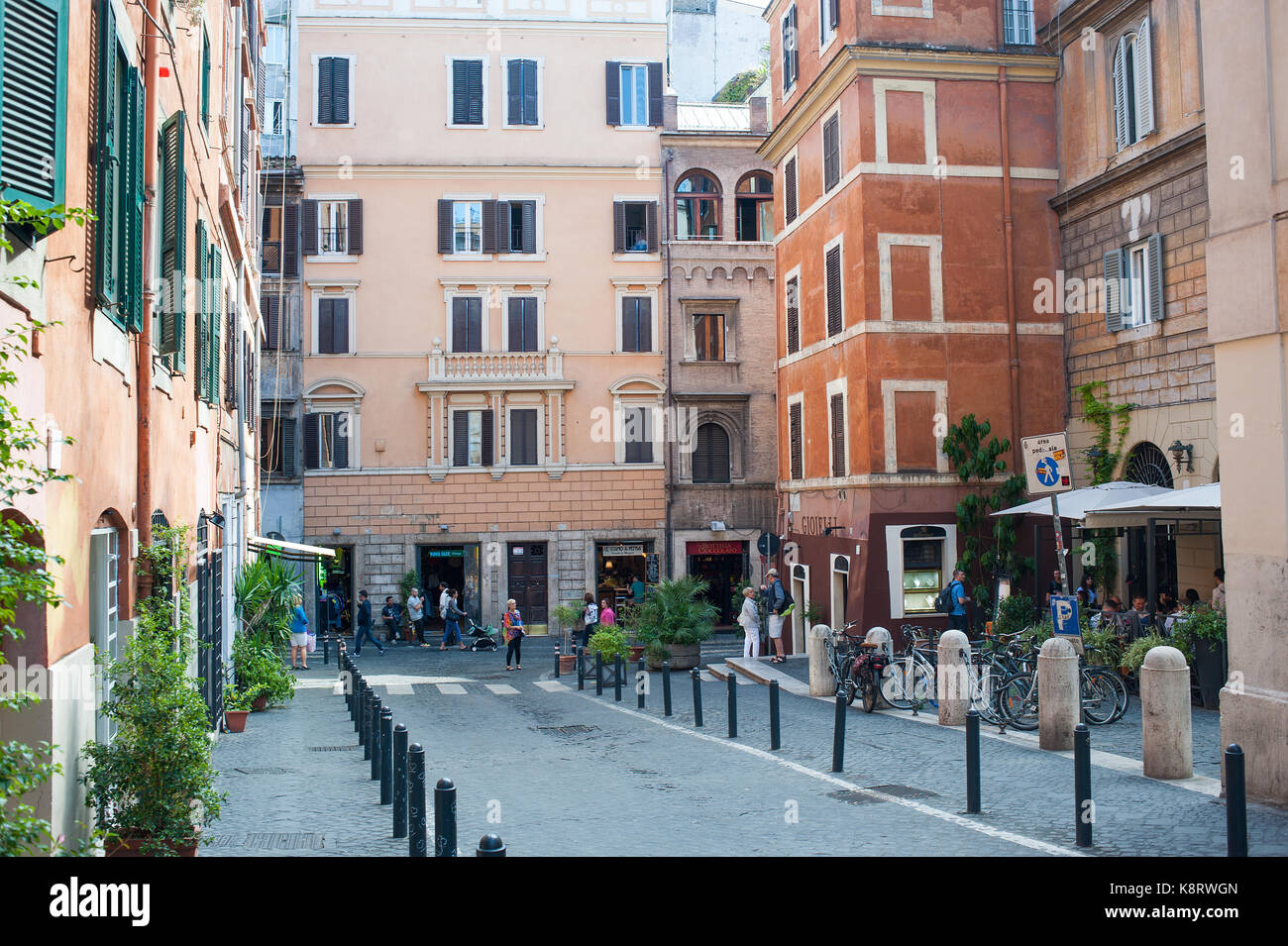 Rome, Italy -  People in Monti district - Stock Image