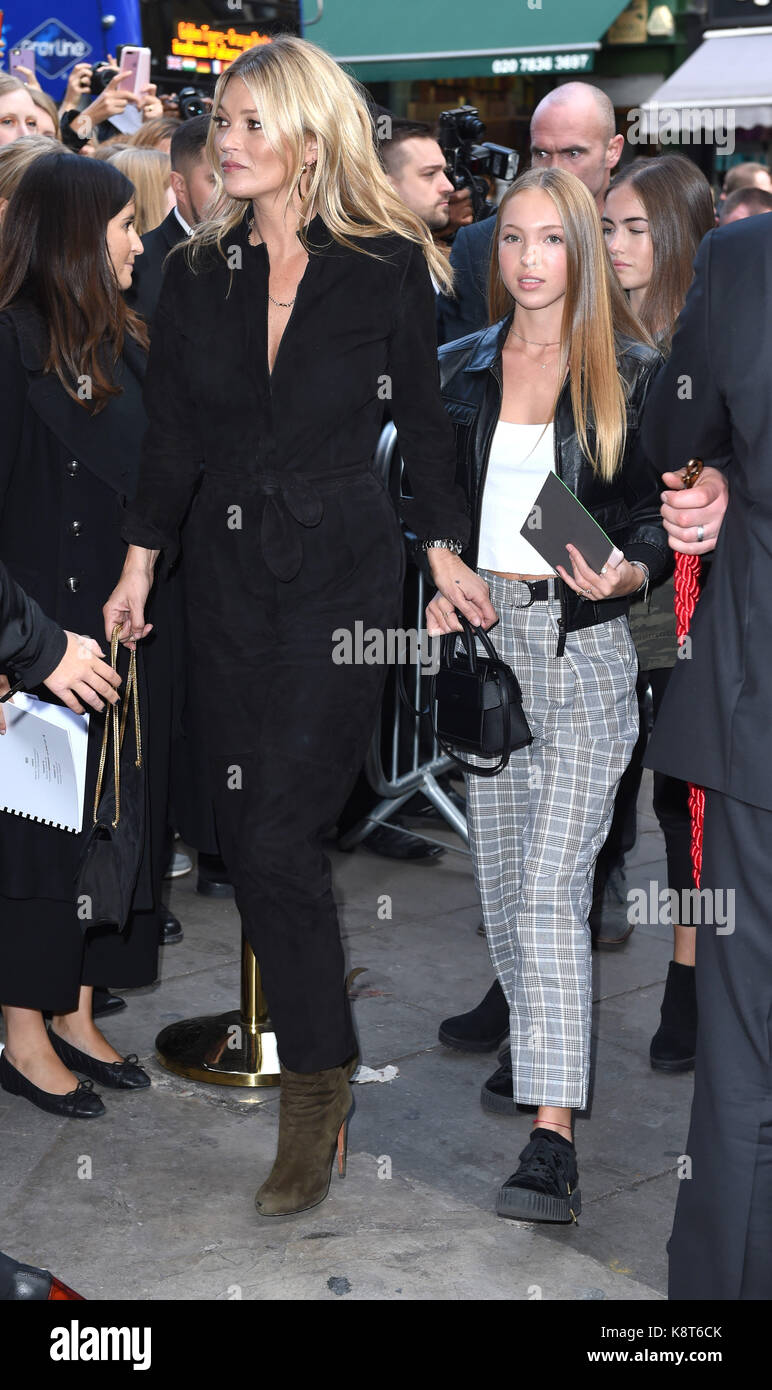 Photo Must Be Credited ©Alpha Press 079965 17/09/2017 Kate Moss and Daughter Lila Grace Moss Hack and Stella - Stock Image