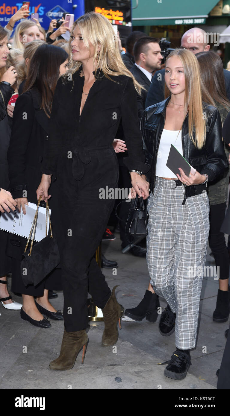Photo Must Be Credited ©Alpha Press 079965 17/09/2017 Kate Moss and Daughter Lila Grace Moss Hack Topshop Fashion - Stock Image