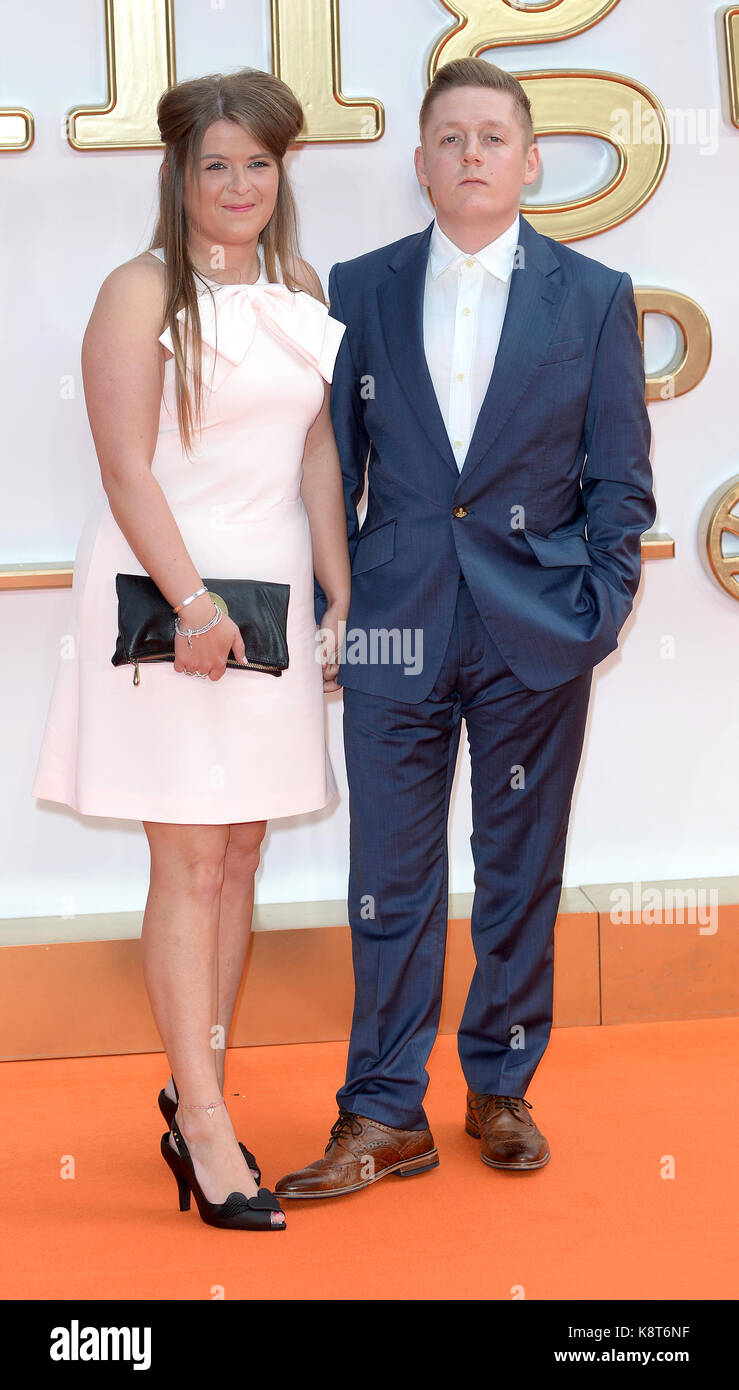 Photo Must Be Credited ©Alpha Press 078237 18/09/2017 Charlotte Revell and Thomas Turgoose at the Kingsman - Stock Image