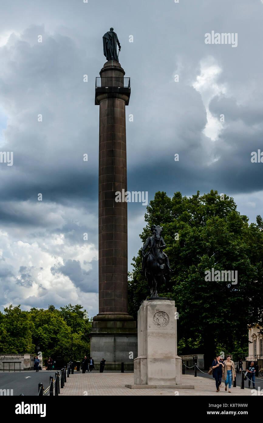 The Duke Of York Monument, Waterloo Place, London, UK - Stock Image