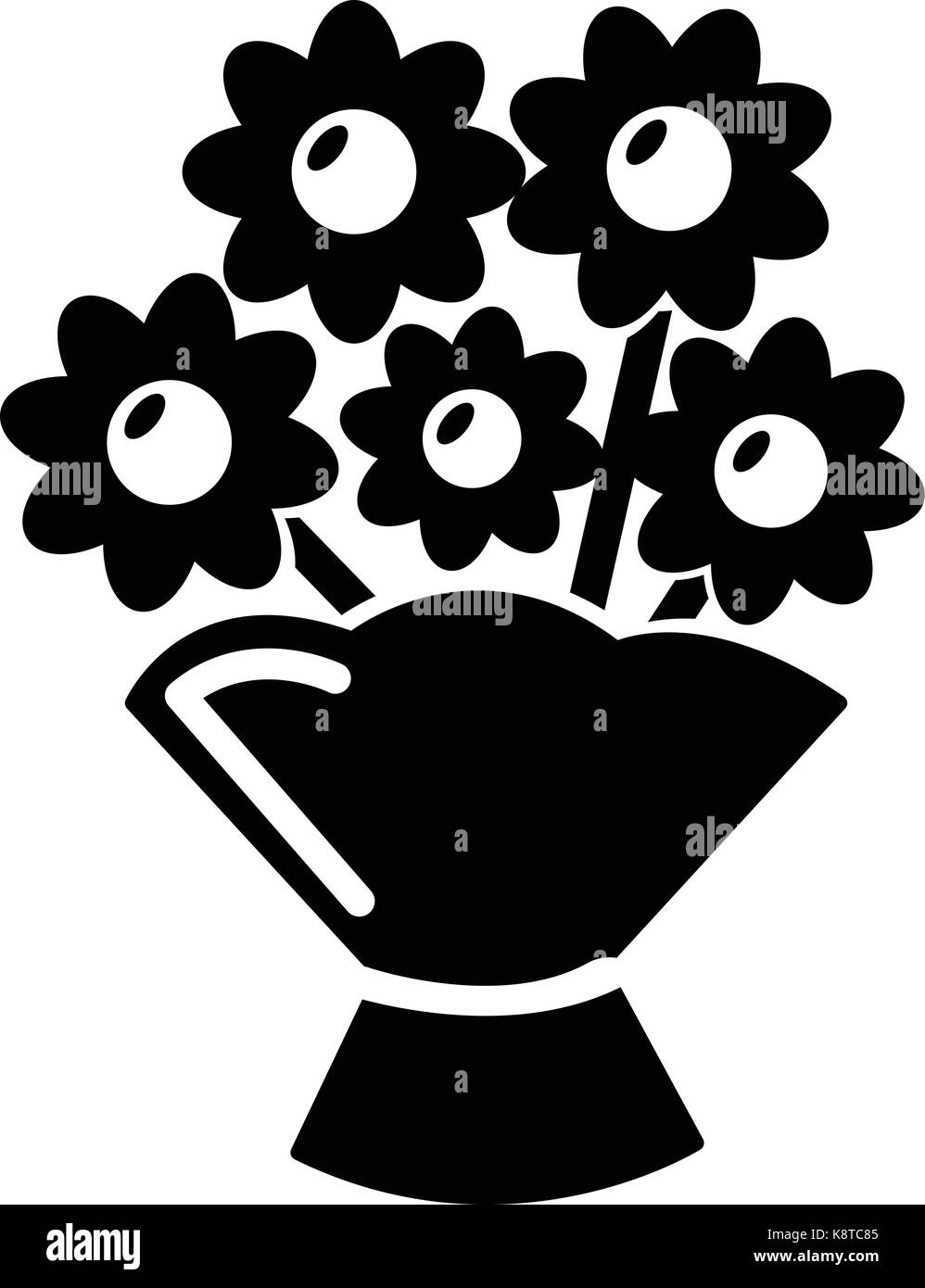 Flower Bucket Black And White Stock Photos Images Alamy