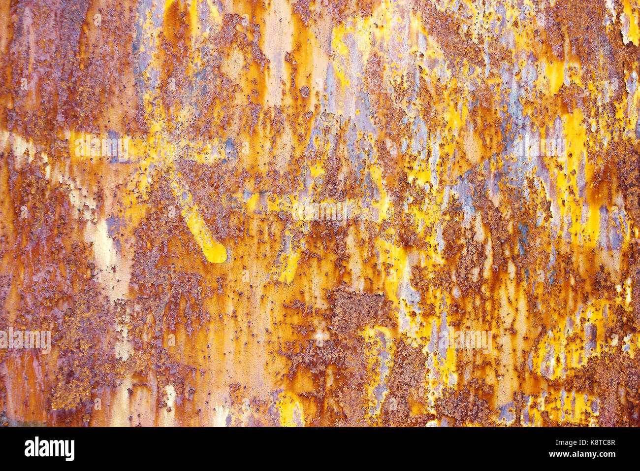 rusty degraded metal gate, background Stock Photo