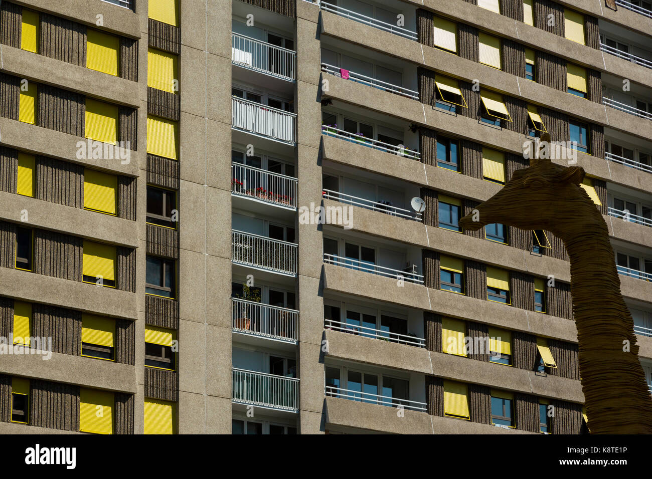 Modern Public Buildings Located At Boulogne Billancourt.   Stock Image