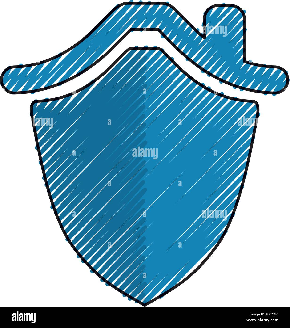 House insurance symbol - Stock Vector
