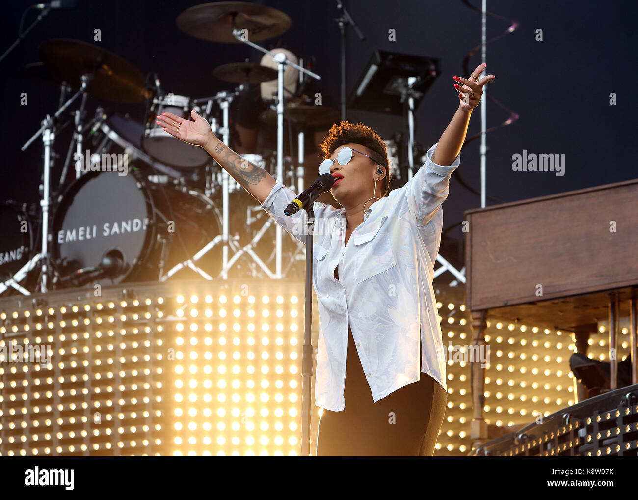 0cc69c2f7 Emeli Sande performing on the main stage during Day Two of V Festival at  Hylands Park