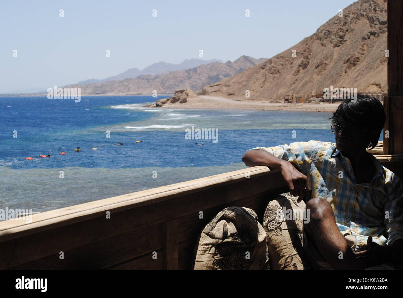 A view of the Blue hole in dahab. - Stock Image