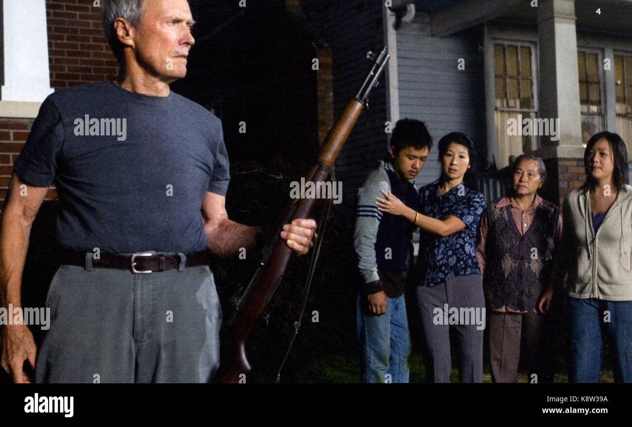 GRAN TORINO 2008 Warner Bros film with Clint Eastwood - Stock Image