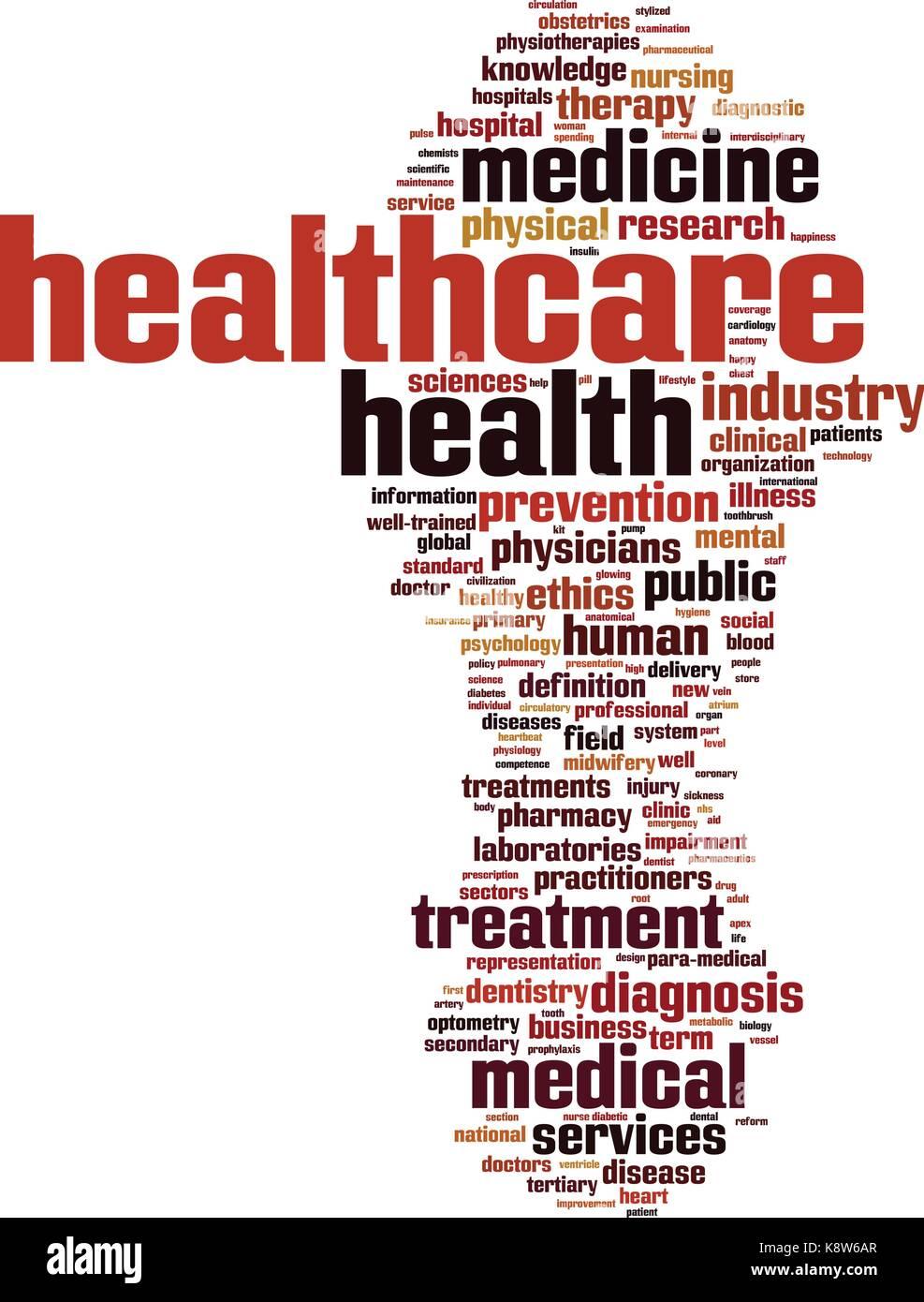 Healthcare word cloud concept. Vector illustration - Stock Vector