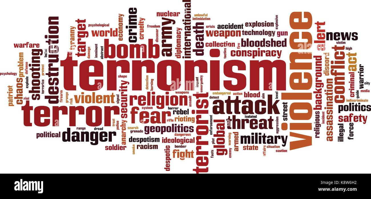 Terrorism word cloud concept. Vector illustration - Stock Vector