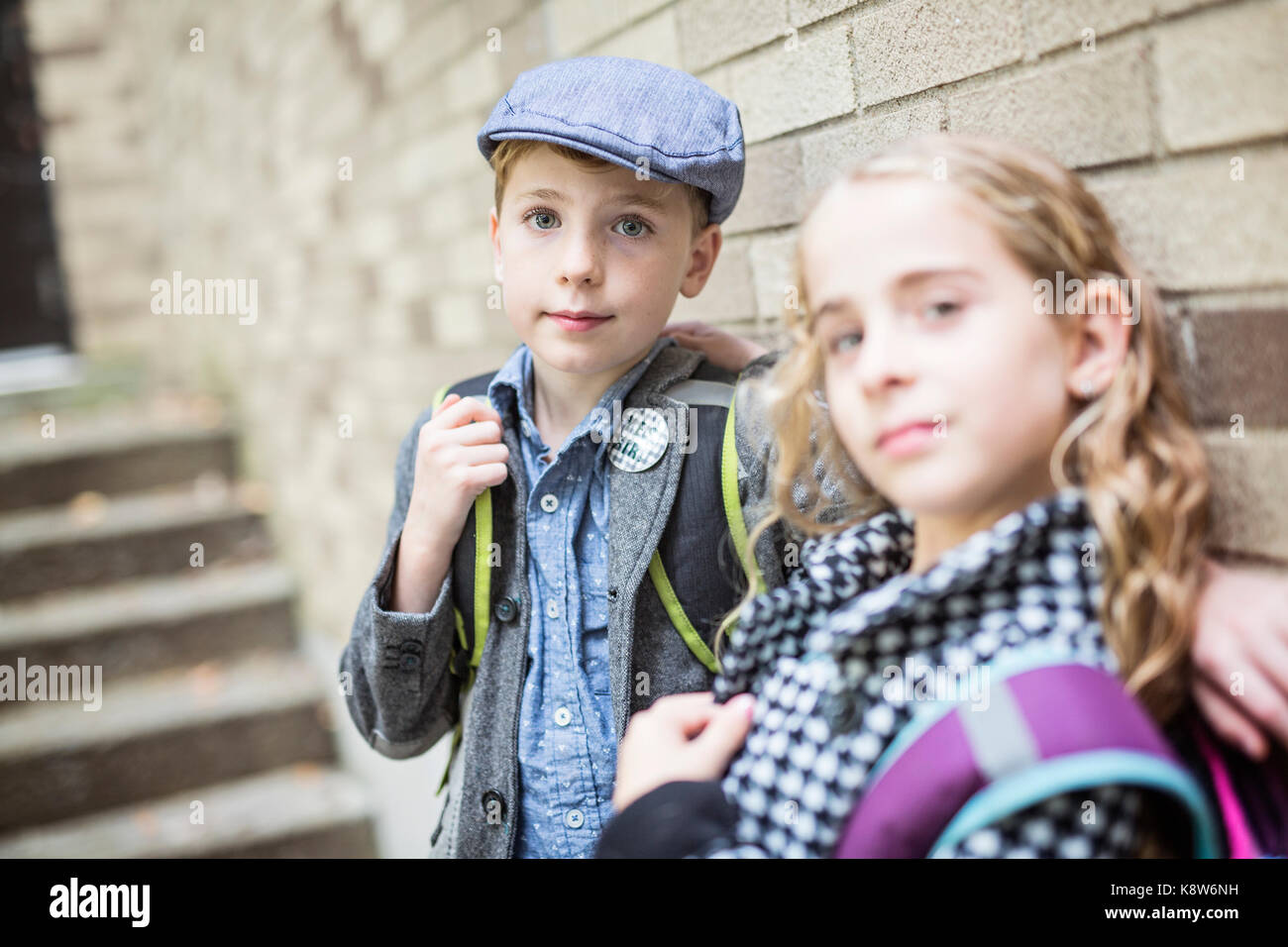 Pre teen child at school - Stock Image