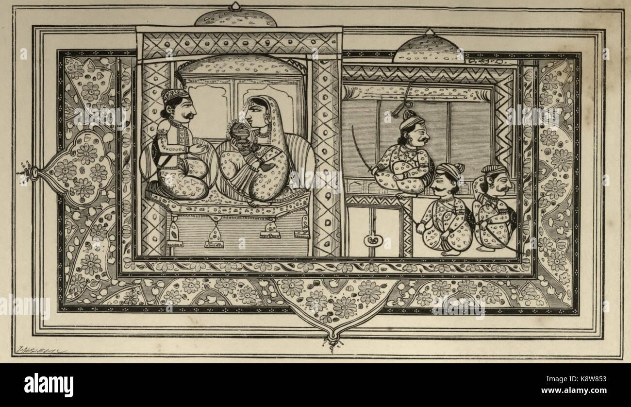 Birth of Krishna - Stock Image