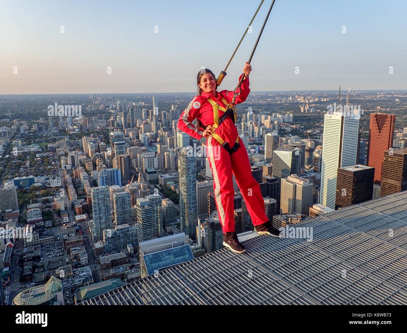 Toronto Canada Edgewalk At The Cn Tower In The Late Afternoon Stock Photo Alamy