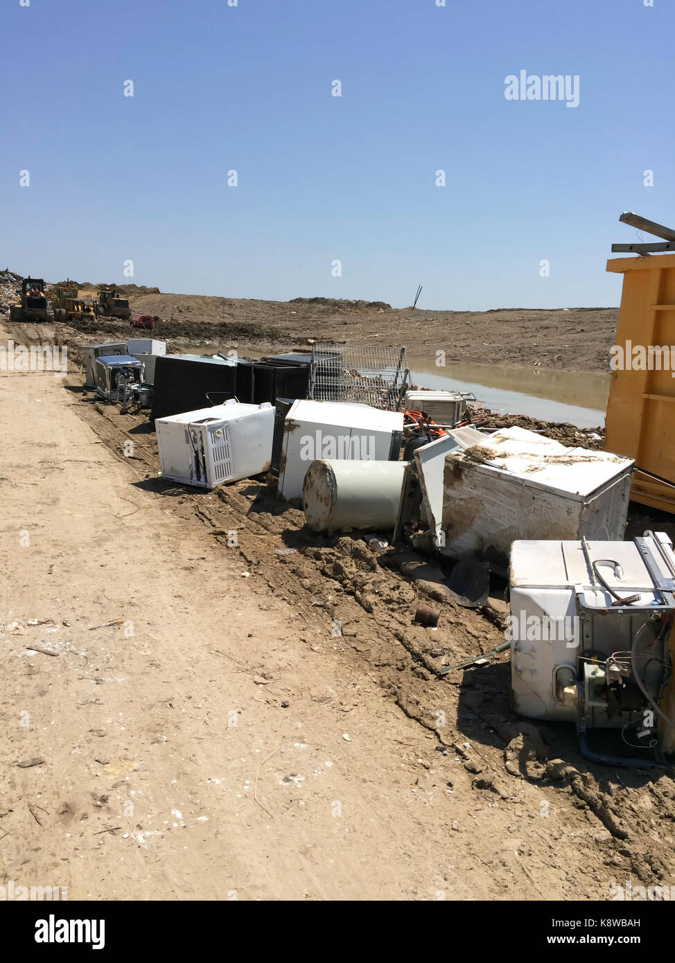 Old Appliances at the Landfill - Stock Image