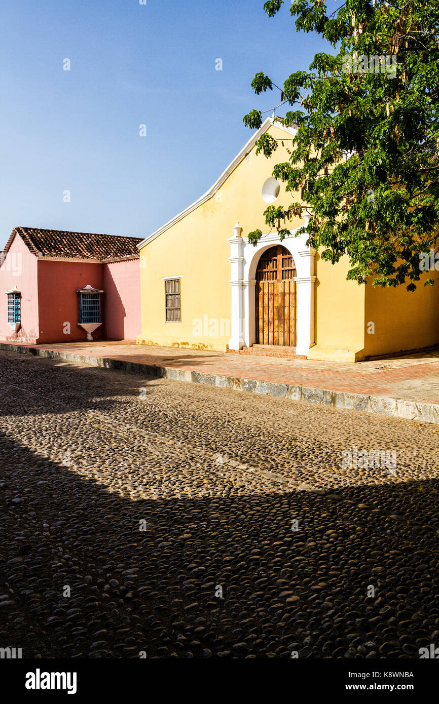 San Clemente Church (Iglesia de San Clemente), built in 1538. Coro, Falcon state, Venezuela. Stock Photo